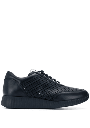 Baldinini punch-hole low sneakers - Blue