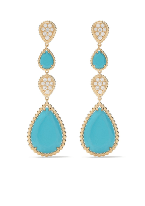 Boucheron 18kt yellow gold Serpent Bohème diamond and turquoise