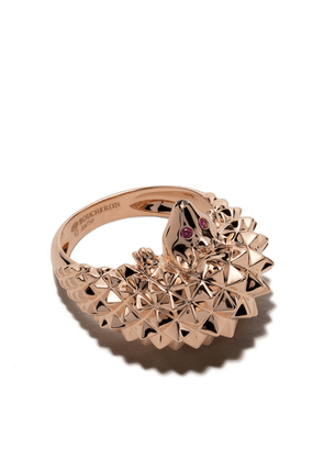 Boucheron 18kt rose gold Hans, the hedgehog diamond and ruby ring - Pg
