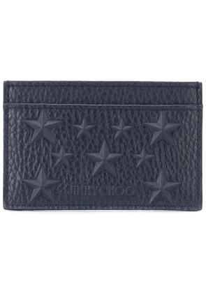 Jimmy Choo Dean EMG star embossed card holder - Blue