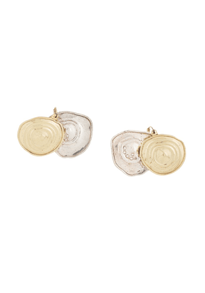 Ellery dual disc earrings - Metallic