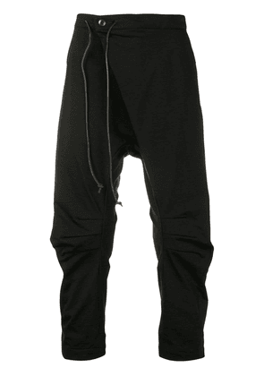 Attachment dropped crotch track pants - Black