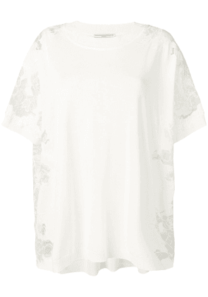 Ermanno Scervino lace panelled T-shirt - White