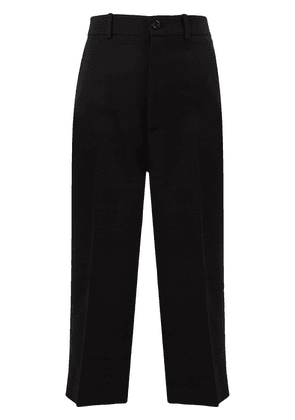Gucci pleated cropped trousers - Black