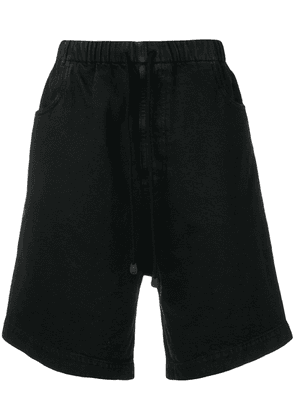 Gucci patch logo bermuda shorts - Black