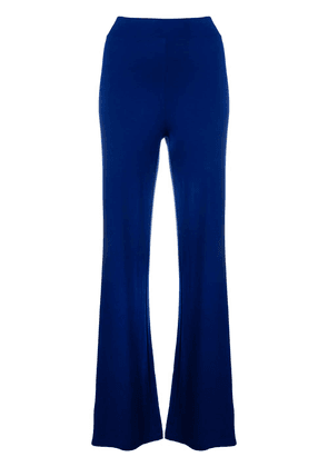 D.Exterior high waisted flared trousers - Blue