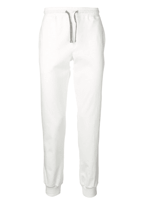 Eleventy tapered track trousers - White