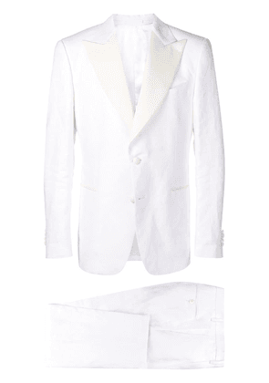 Dell'oglio two-piece suit set - White