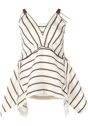 Dorothee Schumacher striped asymmetric top - Neutrals