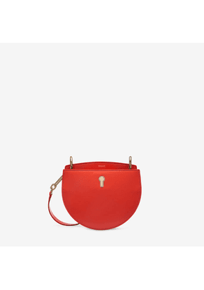 Bally Cecyle Small Red, Women's plain calf leather small crossbody bag in tan