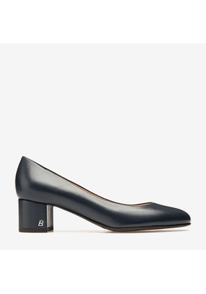 Bally Lacye Blue, Women's nappa leather pump with 45mm heel in ink