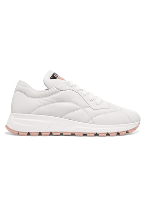 Prada - Mattress Printed Quilted Leather Sneakers - White