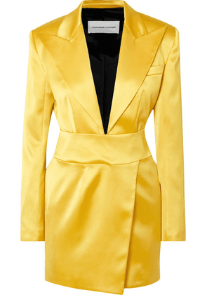 Alexandre Vauthier - Stretch-satin Mini Dress - Yellow