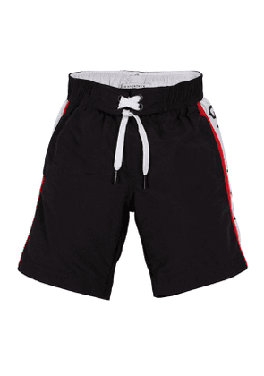 Logo-Sides Swim Trunks, Size 4-10
