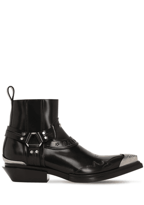 40mm Santiago Leather Western Boots
