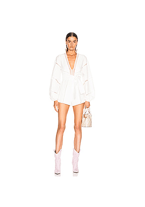Alice McCall A Foreign Affair Playsuit in White