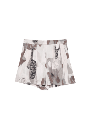 Polly Shorts - Beige Marble