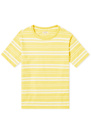 Arpenteur Match Stripe Tee Yellow & White