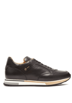 Dunhill - Duke Low Top Leather Trainers - Mens - Black