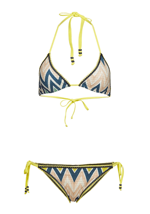 M Missoni Chevron String Bikini with Matching Headband
