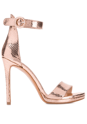 Albano snake-effect pumps - Metallic