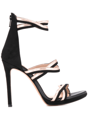 Albano metallic strap sandals - Black