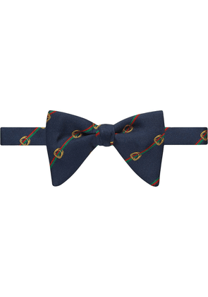 Gucci Stirrups and Web bow tie - Blue