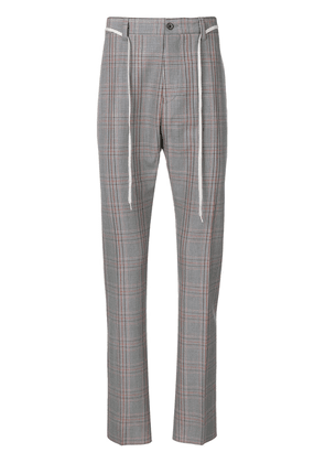 Lanvin checked trousers - Grey