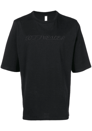 Cottweiler embroidered logo T-shirt - Black