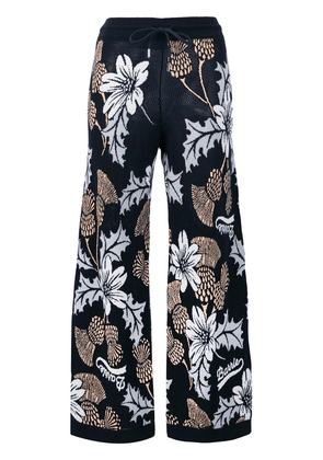 Barrie floral flared trousers - Blue