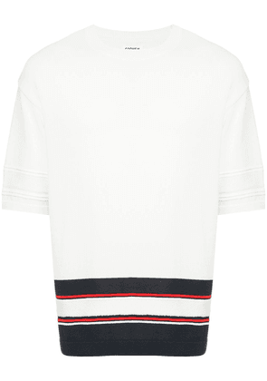 COOHEM Sporty knit sweater - White