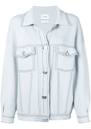 Barrie stitch-detail oversized jacket - Blue