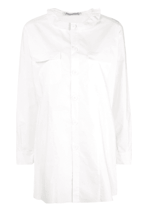Cherevichkiotvichki ruffled collar shirt - White