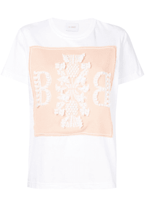 Barrie logo embroidered T-shirt - White
