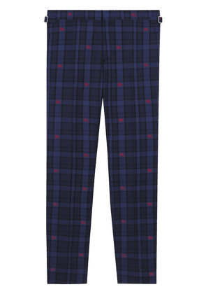 Burberry checked tailored trousers - Blue