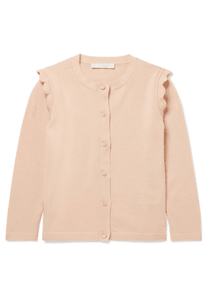 Chloé Kids - Ages 2 - 5 Scalloped Cotton Cardigan