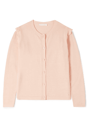 Chloé Kids - Ages 6 - 12 Scalloped Cotton Cardigan
