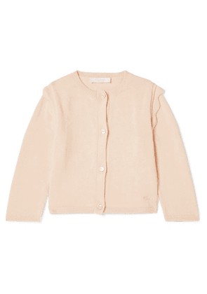 Chloé Kids - Months 6 - 18 Scalloped Cotton Cardigan