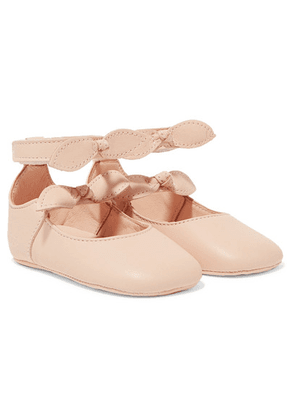 Chloé Kids - Sizes 17 - 19 Bow-detailed Leather Ballet Flats