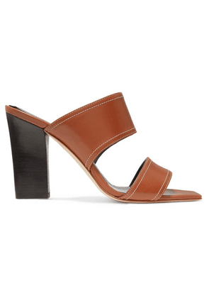 aeyde - Serena Leather Mules - Tan