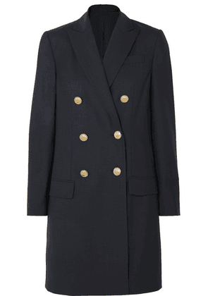 Brunello Cucinelli - Double-breasted Wool-blend Coat - Navy
