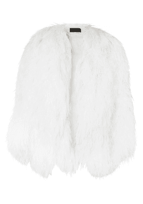 Dundas - Feather And Silk-georgette Jacket - White