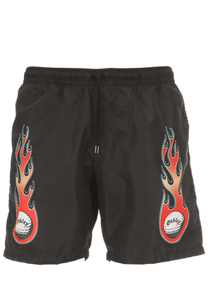 Tnp Flames Techno Beach Shorts