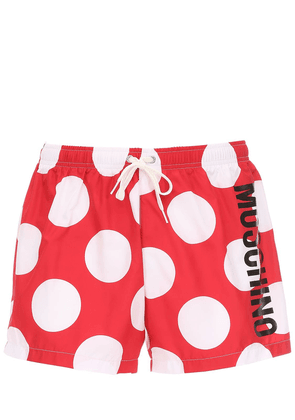 Logo Polka Dot Tech Swim Shorts