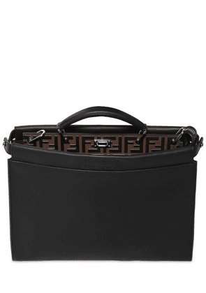 Slim Peekaboo Ff Embossed Leather Bag