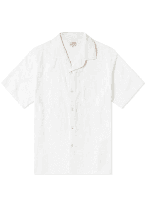 Arpenteur Short Sleeve Pyjama Shirt White