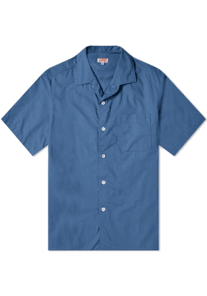 Arpenteur Short Sleeve Pyjama Shirt Blue
