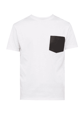 Berluti - Leather Patch Pocket Cotton T Shirt - Mens - White