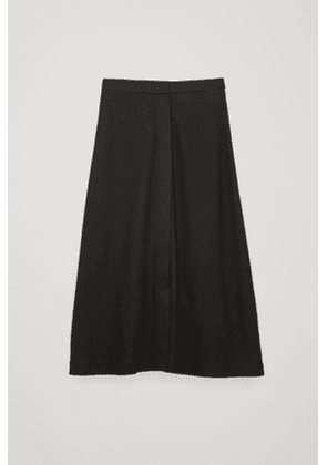 LONG WOOL-COTTON SKIRT