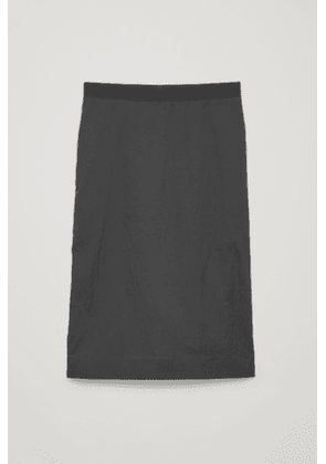 CRINKLED PENCIL SKIRT